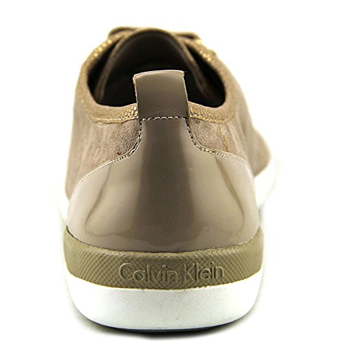 Calvin Klein Womens Tanita Low Top Lace Up Fashion Sneakers Gold/Cocoon 0vbvv2l