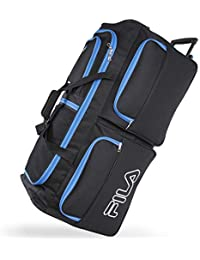 7-Pocket Large Rolling Duffel Bag, Black/Blue, One Size