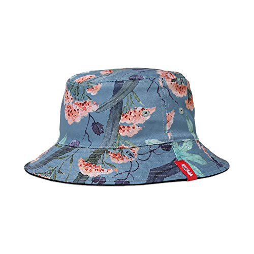 - Exlura Unisex Bucket Hat Reversible Fisherman Hat Plant Printed Solid Color Outdoor Sun Hat Packable