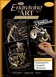 Bulk Buy: Royal Brush Engraving Art Value Packs 3/Pkg Gold Grizzly Bears/Rams/Wolves ENGARTVP-2 (2-Pack)