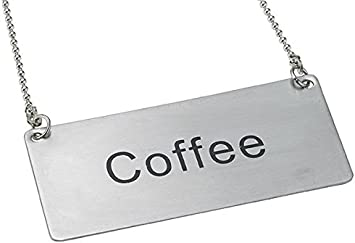 Stainless Steel Size Coffee Update International Beverage Chain Sign