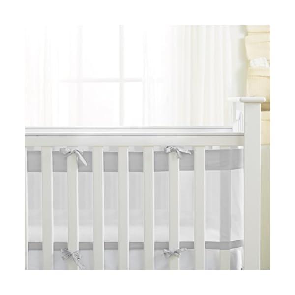 AirFlowBaby 14″ Mesh Crib Liner, Gray