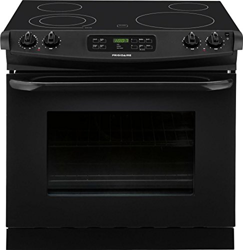 Frigidaire 30″ 4.6 Cu. Ft. Electric Smoothtop Black Drop-In Range FFED3025PB