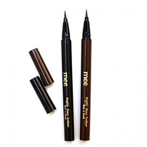 Best Seller! Brightly Sharp Liquid Eye liner make your eyes look gorgeous and fabulous #Value Pack of Black & Brown(Made in Korea) (Liquid Black Eyeliner Stila)