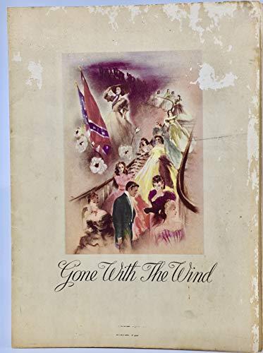 1939 - Gone With The Wind - Vintage Souvenir Original Movie Program - Clark Gable/Vivien Leigh - MGM - Rare - Collectible