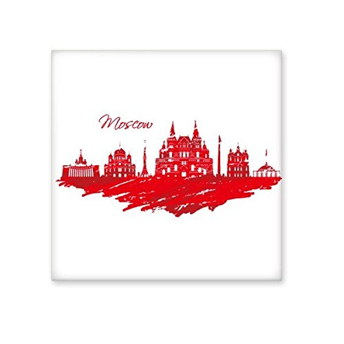 Moscow Landmark Red Cathedral Pattern Hand Painting Illustration Ceramic Bisque Tiles for Decorating Bathroom Decor Kitchen Ceramic Tiles Wall Tiles free shipping