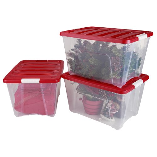 IRIS 3 Piece Holiday Plastic 53 65 Quart