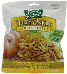 (Fresh Gourmet, Crispy Onions Garlic Pepper, 3.5 OZ)
