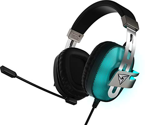 ThunderX3 TH40- Cascos gaming profesional- (Iluminacion LED, 7 colores, Driver 53 mm, Sonido virtual 7.1, microfono con cancelacion de ruido) Color Negro