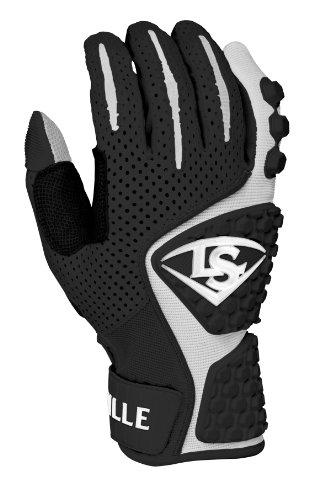 Louisville Slugger BG Protective Batting Glove, Black, Large