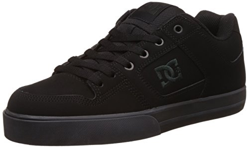 DC Men's Pure Skate Shoe, Black/Pirate Black, 18 M (Action Sports Footwear)