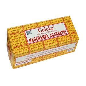 Goloka (Gold) Nag Champa Incense - 250 Gram Box, used for sale  Delivered anywhere in USA