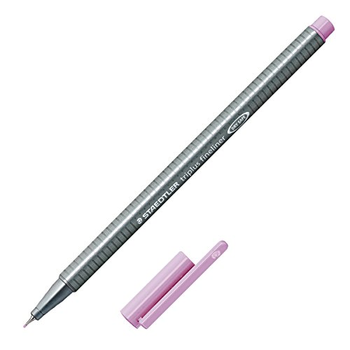 Staedtler Triplus Fineliner Marker Pen - 0.3 mm - Lavender Purple (Triangular Shaped Metal Pen)