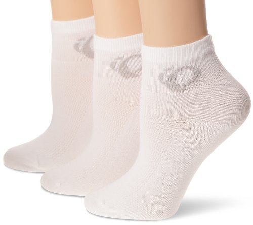 Pearl Izumi White Cycling Socks (Pearl Izumi Women's W Attack Low Socks (3-Pack), White, Medium)