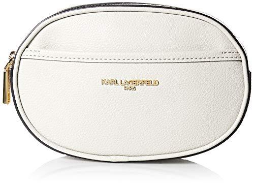 Karl Lagerfeld Paris Womens Willow Belt Bag, Winter White