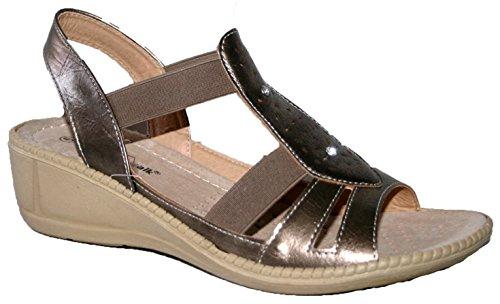 1 Cushion Sandales Walk femme pour Bronze xqw8FqR1