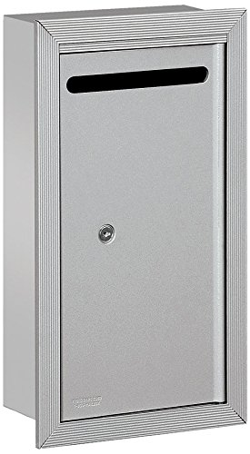picture of Salsbury Industries 2265AP Slim Recessed Mounted Letter Box with Commercial Lock, Private Access, Aluminum