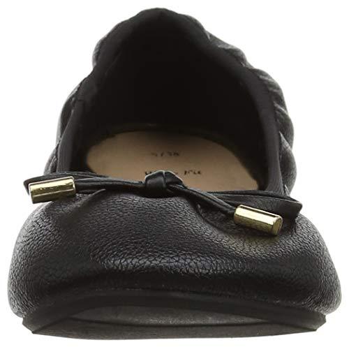 Mujer Tacón Foot Negro Punta De Juni 01 Para New Zapatos Look Con Cerrada Wide black qECxwYP