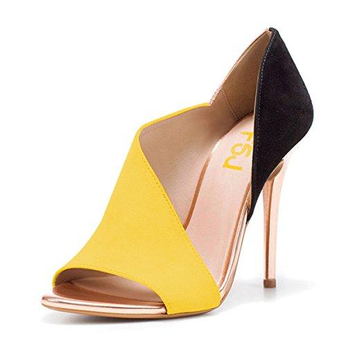Sandaalit Keltainen 4 Lovea Osapuoli Fsj Koko Juhlakengät Piikkikorot Seksikäs Peep 15 D'orsay Toe Meille Naiset Pumput xwnqpUYA