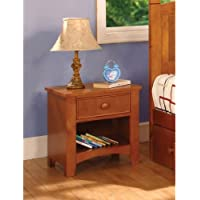 Furniture of America CM7905OAK-N Omnus Oak Nightstand