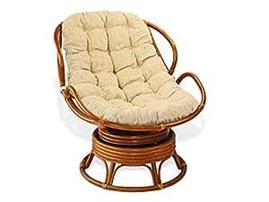 Handmade Rattan Wicker Swivel Rocking Chelsea Papasan Chair With