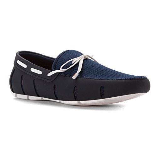 SWIMS Men's Lace Loafer Navy/White 11 M by SWIMS