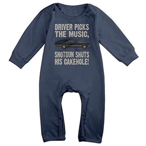 [YOUD Babys Supernatural Driver Picks The Music Long Sleeve Outfits 6 M] (Sam And Dean Supernatural Costumes)