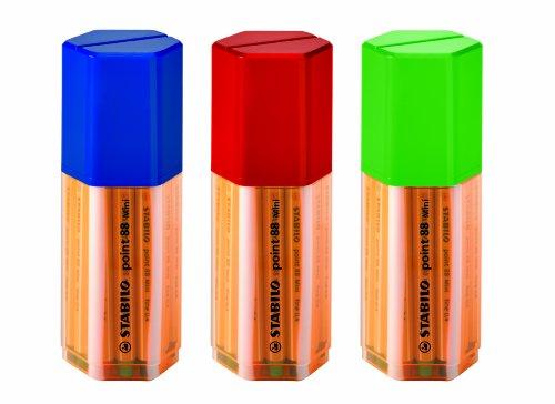 Stabilo Point 88 Mini Fineliner Pens  , Set of 18 , Multicolored (012571)