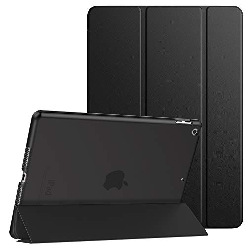 Dadanism Smart Case for New iPad 10.2 2019, iPad 7th Generation Case 10.2 inch, [Shock Absorption] Ultra Slim Lightweight Trifold Stand Cover with Translucent Frosted Hard Back, Auto Sleep/Wake, Black