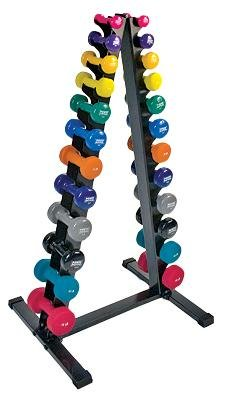 Power Systems Neoprene / Vinyl Vertical Dumbbell Rack, Holds 24 Dumbbells, 28 x 23 x 50.5 Inches, Black (61788) by Power Systems