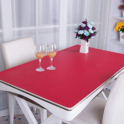 PLLP Home Tablecloth, Hotel Round Tablecloth,Sx-BBF PVC Tablecloth, Desk Mats Office Desk Mats Computer Table Mats Business Case Desk Mats Operator Station 2.8Mm Tablecloth
