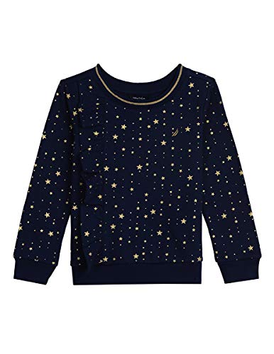 Nautica Girls' Toddler Long Sleeve Holiday Fashion Tops, Naval Blue, 3T -