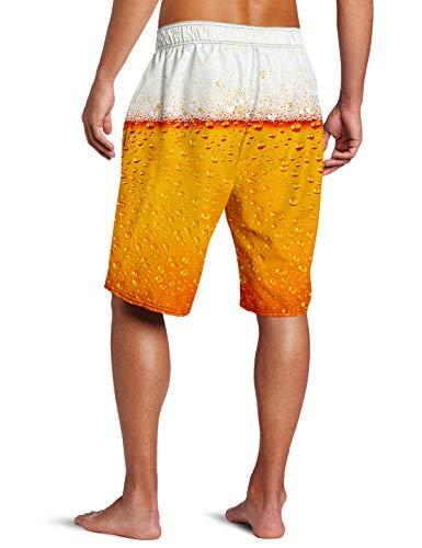 ALISISTER Mens 3D Swim Trunks Quick Dry Summer Underwear Surf Beach Shorts Elastic Waist with Pocket Drawstring