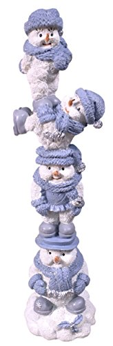 Encore Group Snow Buddies Snowman Village Totem Without P...