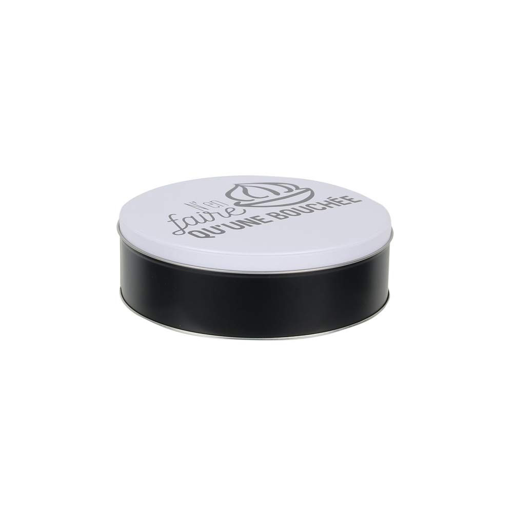 Totally Addict Caja para confeties Redonda de Metal