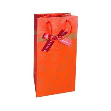 Flaschentasche Focus orange f/ür eine Flasche Wein//Sekt Weinverpackung 10 St/ück Weintragetasche