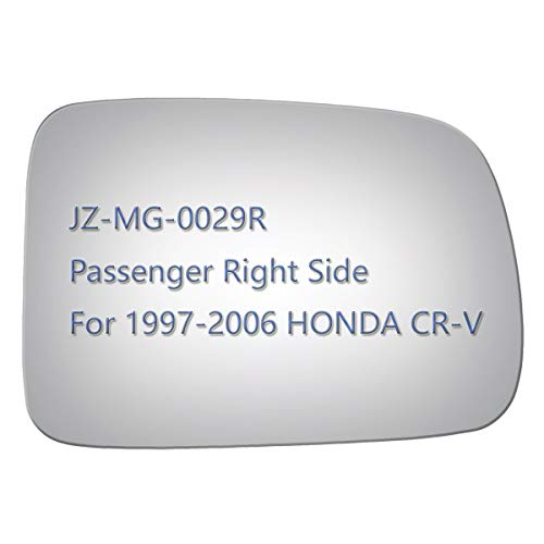JZSUPER Side Mirror Glass for 1997-2006 HONDA CR-V, Passenger Right Side RH Replacement Rearview Convex Glass, Non Heated Including - Convex Glass Rh
