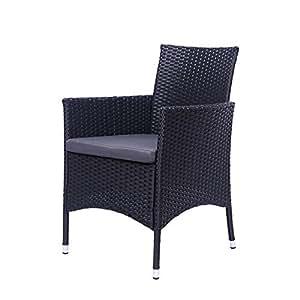 Amazon.com: Smart Choice America - Juego de 2 sillas de ...