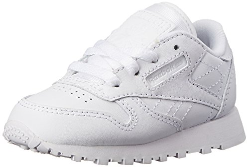 Reebok Classic Leather Shoe,White/White/White,8 M US Toddler