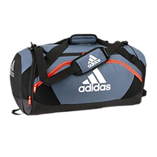 adidas Team Issue Medium Duffel Bag, Tech Ink Grey/Black/Active Orange, One Size