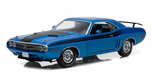 GreenLight 1971 Dodge Challenger HEMI R/T - B-5 (1:18 Scale) Vehicle, Blue (Challenger Dodge 1 18 compare prices)