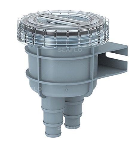 """Seaflo Raw Cooling Water Intake Basket Strainer for Seawater Marine & Boat - Fits 1"""", 1.25"""" & 1.5"""" Hose"""