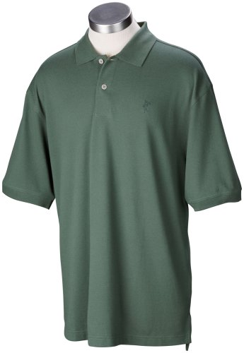 Ashworth Men's Classic Solid Pique Short Sleeve Knit Shirt (Chive, Large)