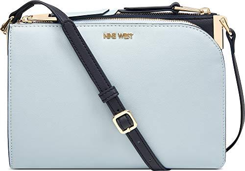 Nine West Two Tone Darcelle Crossbody Handbag One Size Ice blue/navy ()