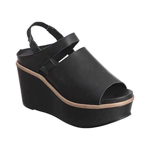 from china sale online cheap high quality Antelope Women's Sandal 758 Leather Narrow Slit Black popular cheap online free shipping deals PNpJ0lH