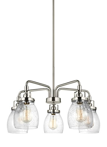 Sea Gull 3114505-962 Belton Chandelier, 5-Light 300 Total Watts, Brushed Nickel
