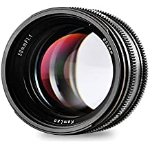 Kamlan 50mm F1.1 APS-C Large Aperture Manual Focus Lens, Standard Prime Lens for Sony E-Mount Mirrorless Camera, Alpha Series and NEX Series