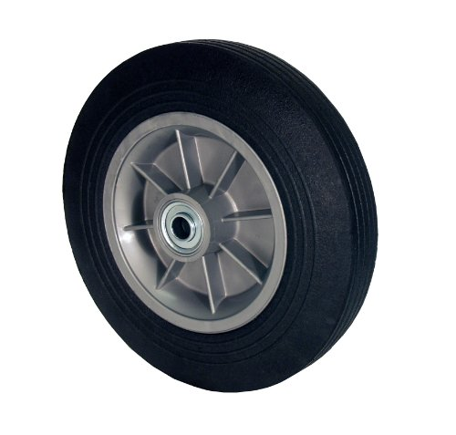 - RWM Casters SN2 Hand Truck Wheel with Solid Rubber Tire and Polypropylene Hub, 8