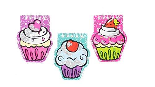 Children's Small Glitter Cupcake Notepad
