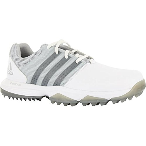 adidas Men's 360 Traxion Golf Shoe, White/Silver Metallic, 11 M US by adidas